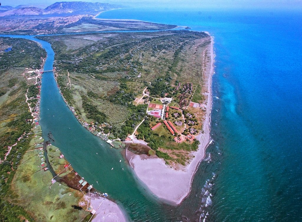 The island of Ada Bojana