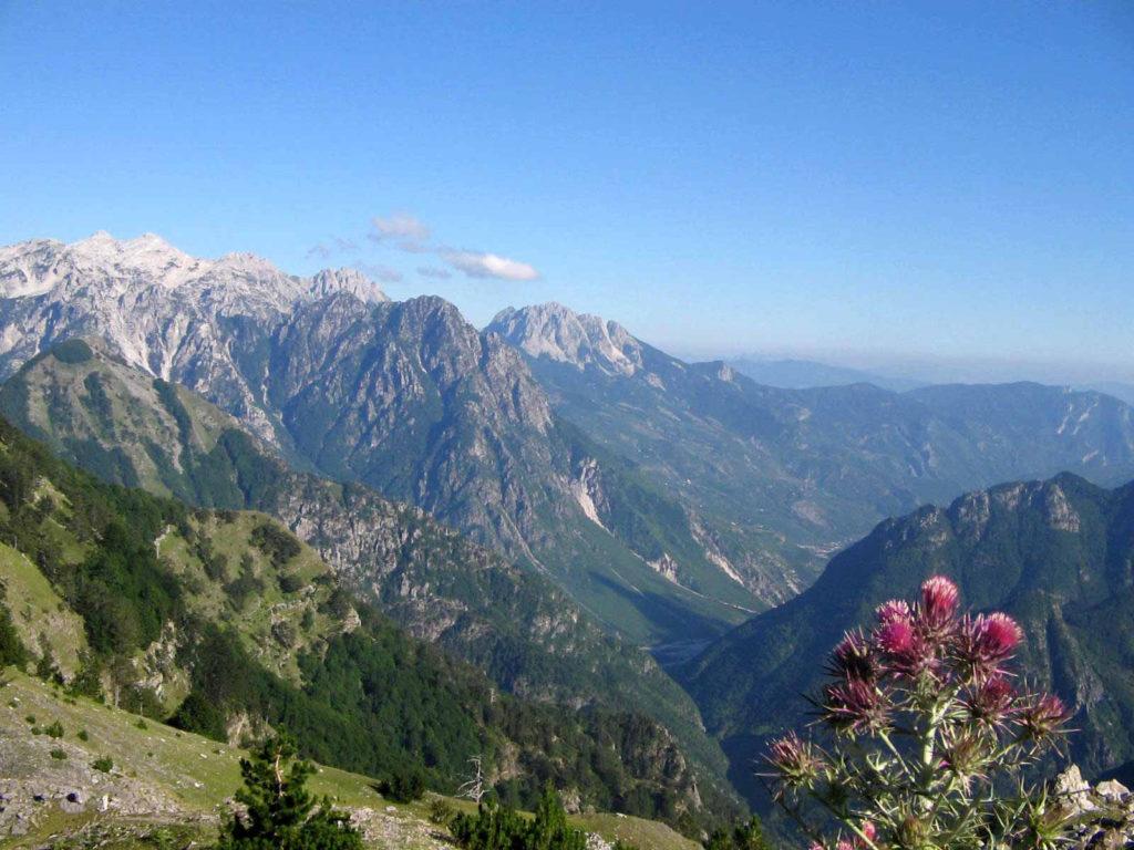 view on albanian prokletije