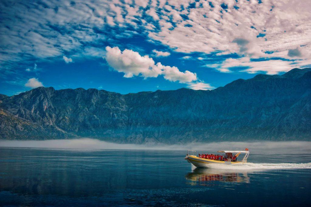 bay of kotor - speedboat ride
