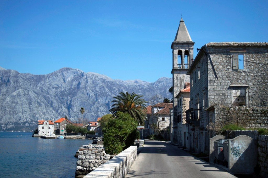 road through Bay of Kotor