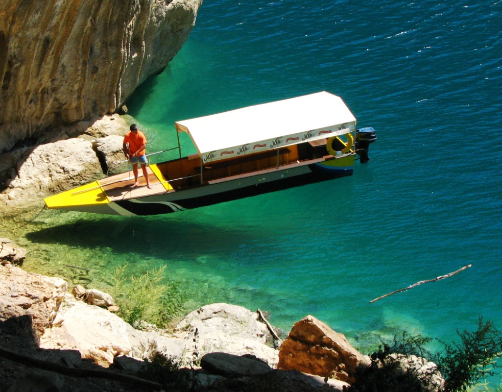 Boat on Piva Lake