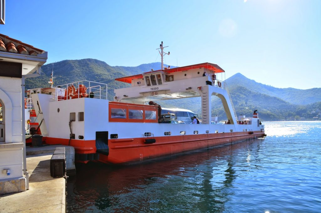 Ferry through Kotor Bay