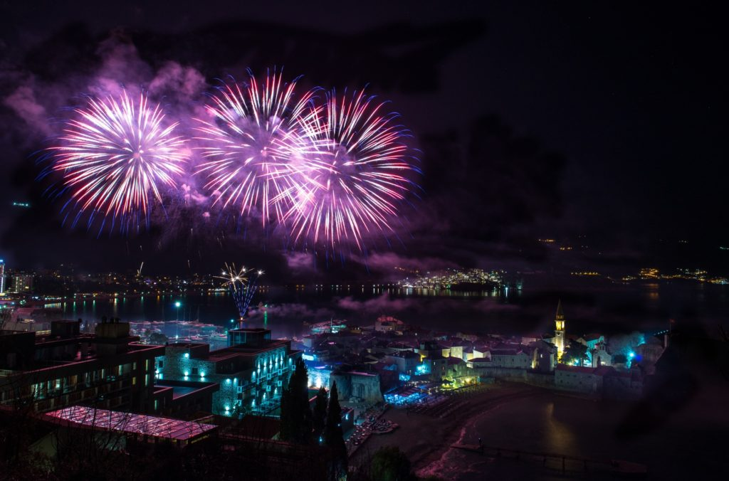 Fireworks in Budva