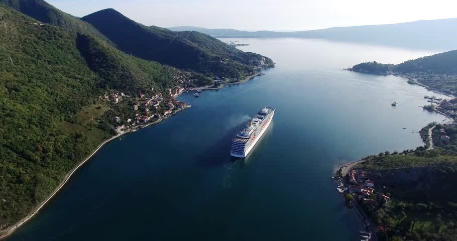 Cruise Ship in Bay of Kotor