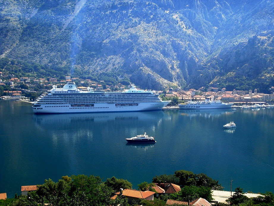 Cruise ships in Port of Kotor