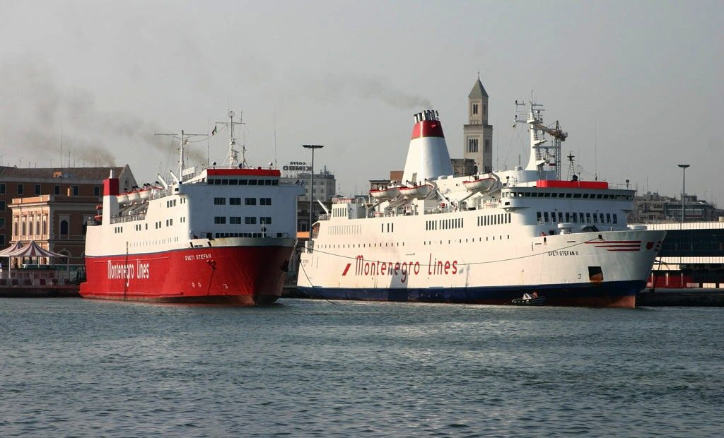 Ferry Sveti Stefan and Sveti Stefan II in Bari