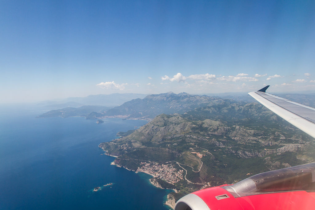 flight to montenegro