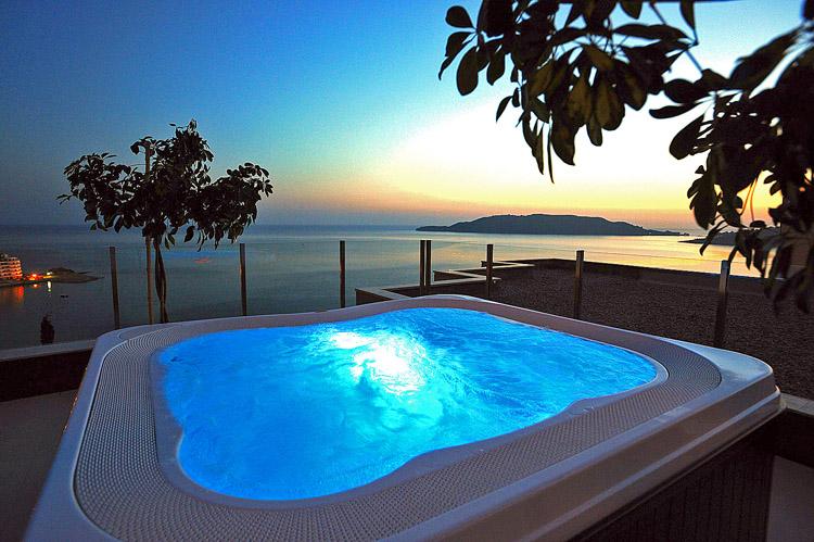 view from terrace - hotel Queen of Montenegro