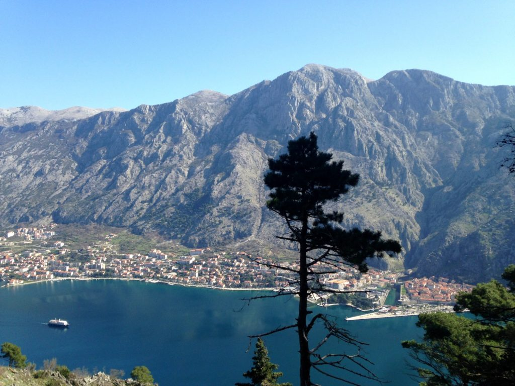 rocky massif above kotor