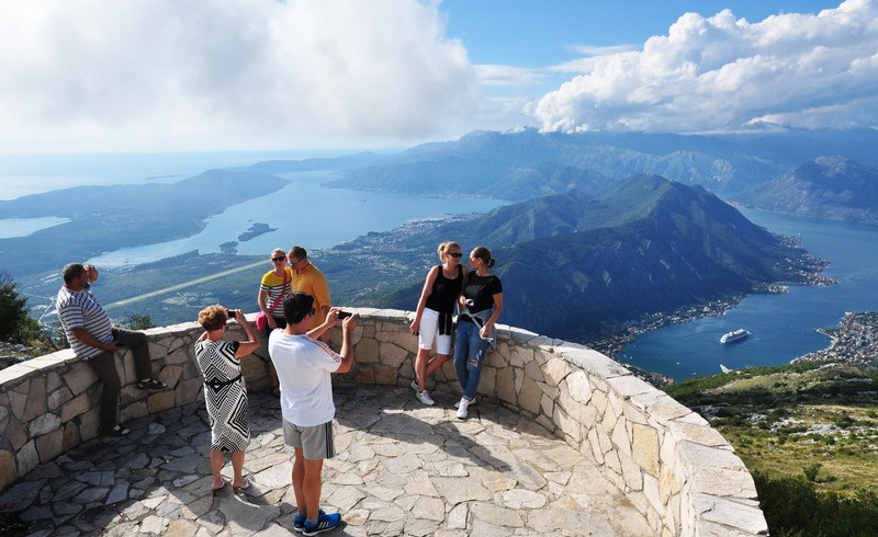 kotor bay view from lovcen