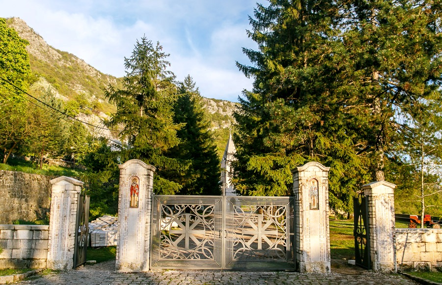 Entrance in Lower Monastery of Ostrog