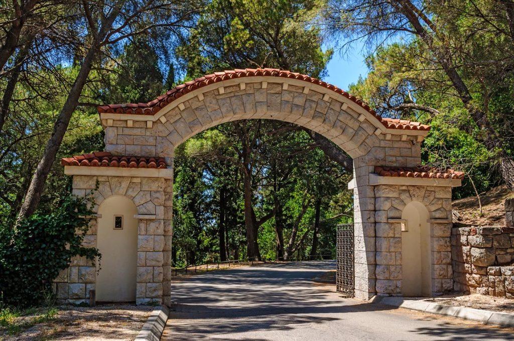 Entrance in Milocer Park