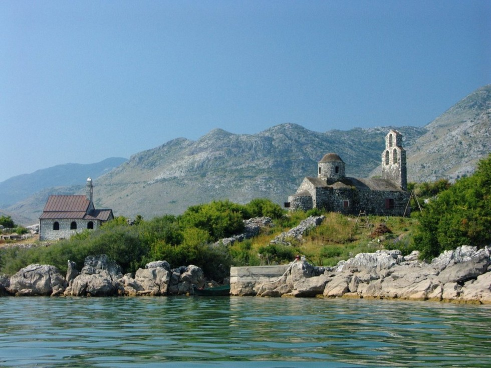 monastery complex beska skadar lake montenegro