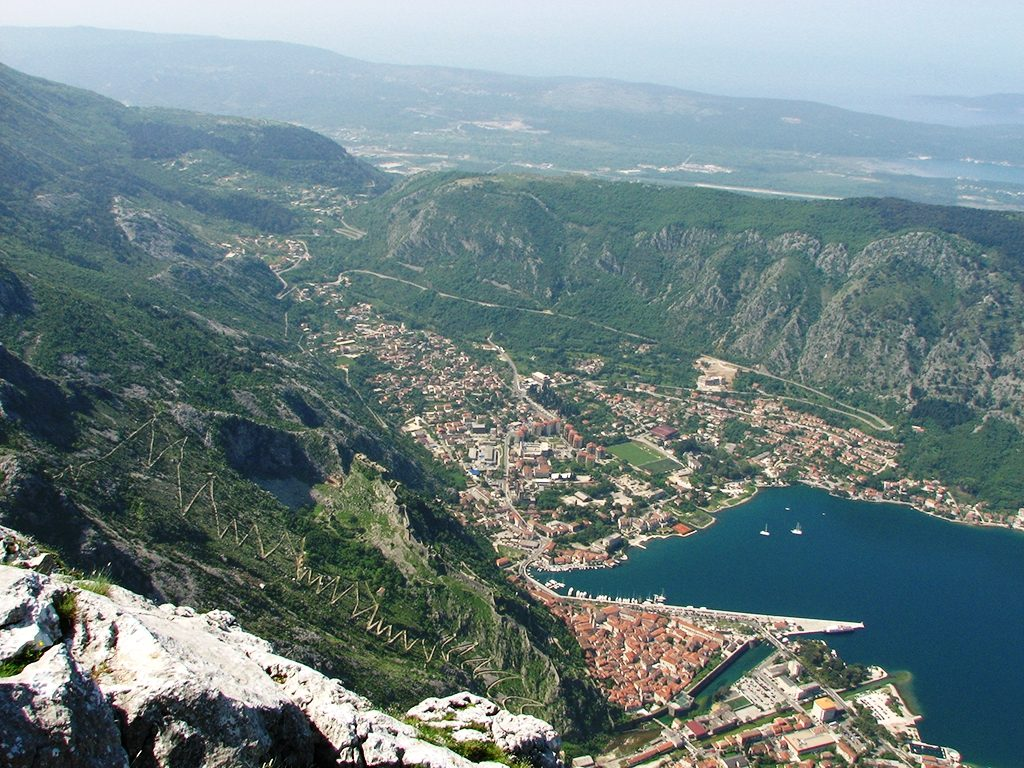 Narrow and winding road from Kotor to Cetinje