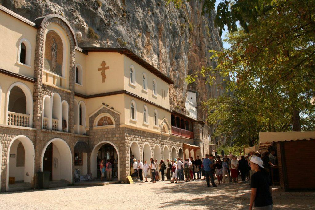 Pilgrims in Ostrog Monastery