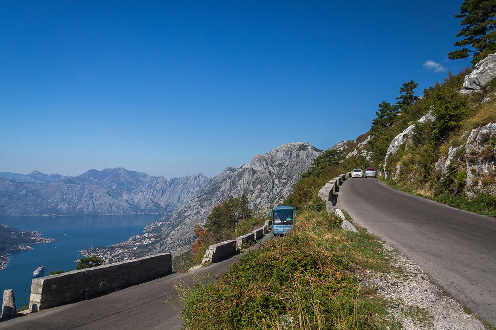 panoramic road above kotor