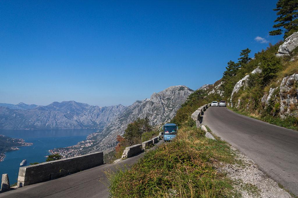 panoramic road above kotor
