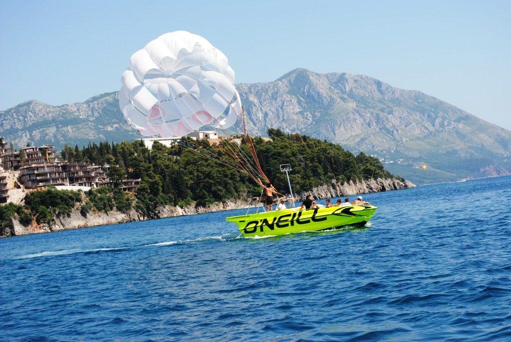 Parasailing in Montenegro