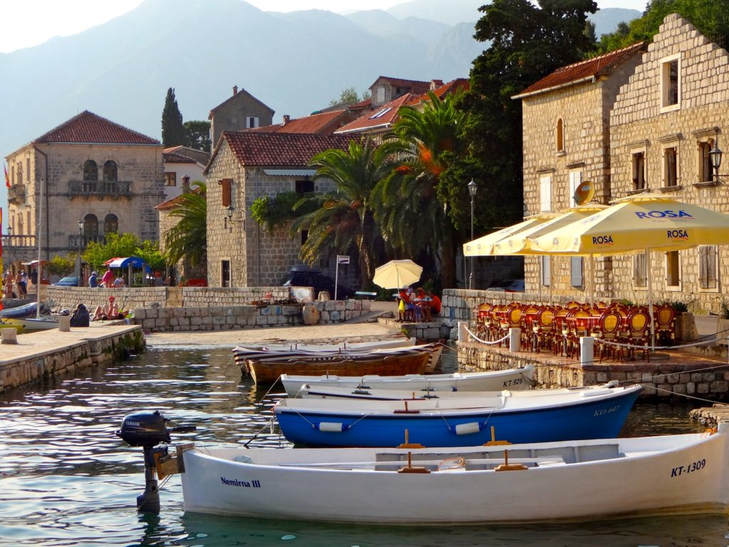 perast small boats