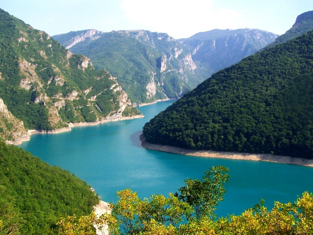 Canyon of Piva River
