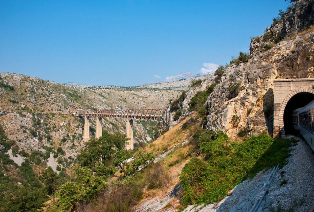 Railway bridge Mala Rijeka Montenegro