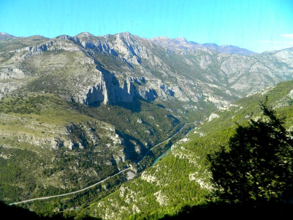 Canyon of Moraca River - View From Train