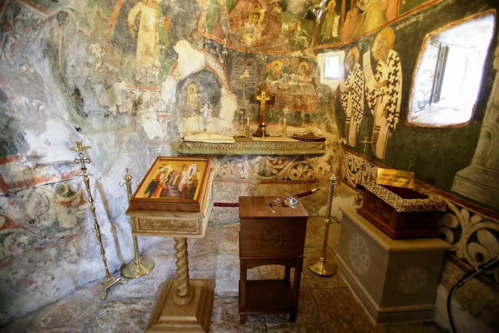 The cave where St.Basil's relics are