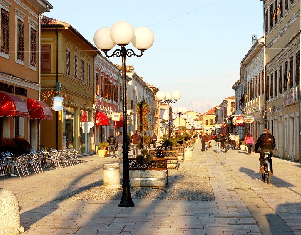 "Pedestrian street ""Kole Idromeno"" Skadar"