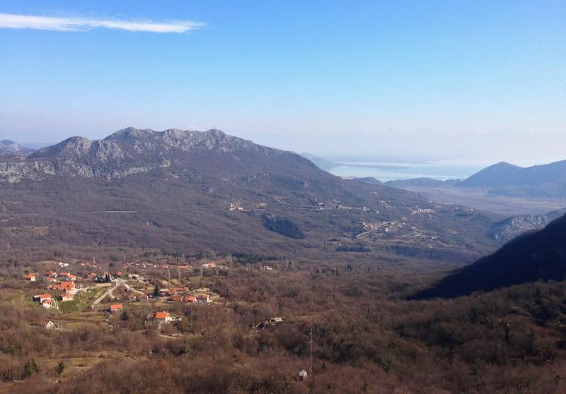 View on Skadar lake from pastrovska gora