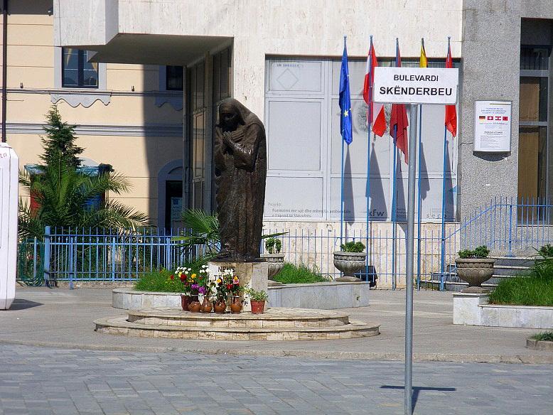 Shkoder - Monument of Mother Teresa