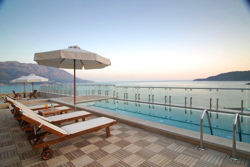 hotel splendid becici - terrace