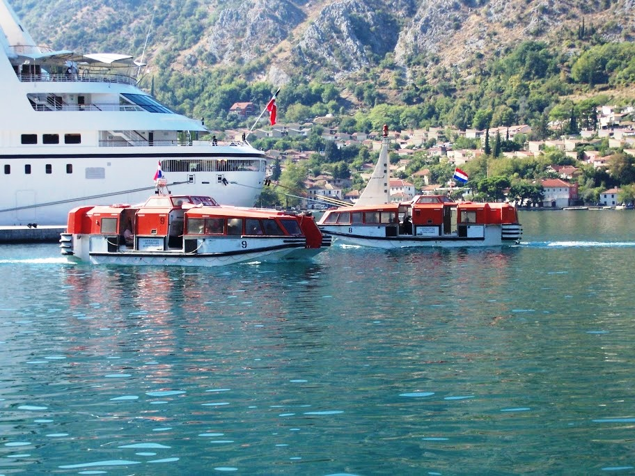 tenders in port of kotor