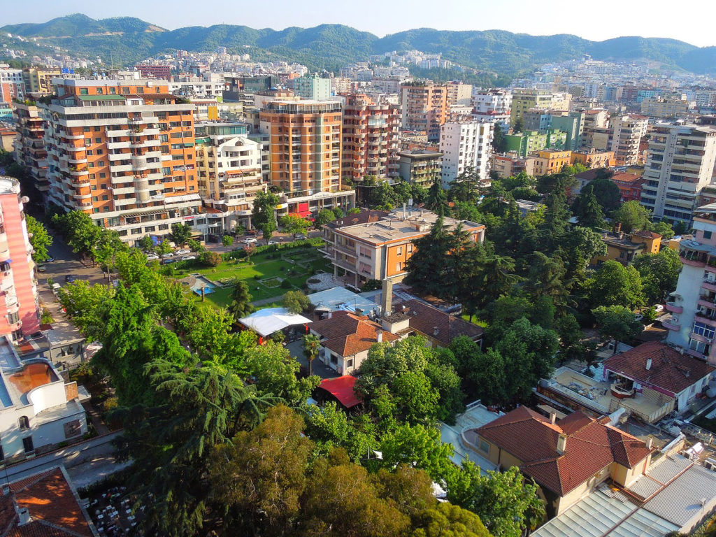 Tirana - View from Sky Tower