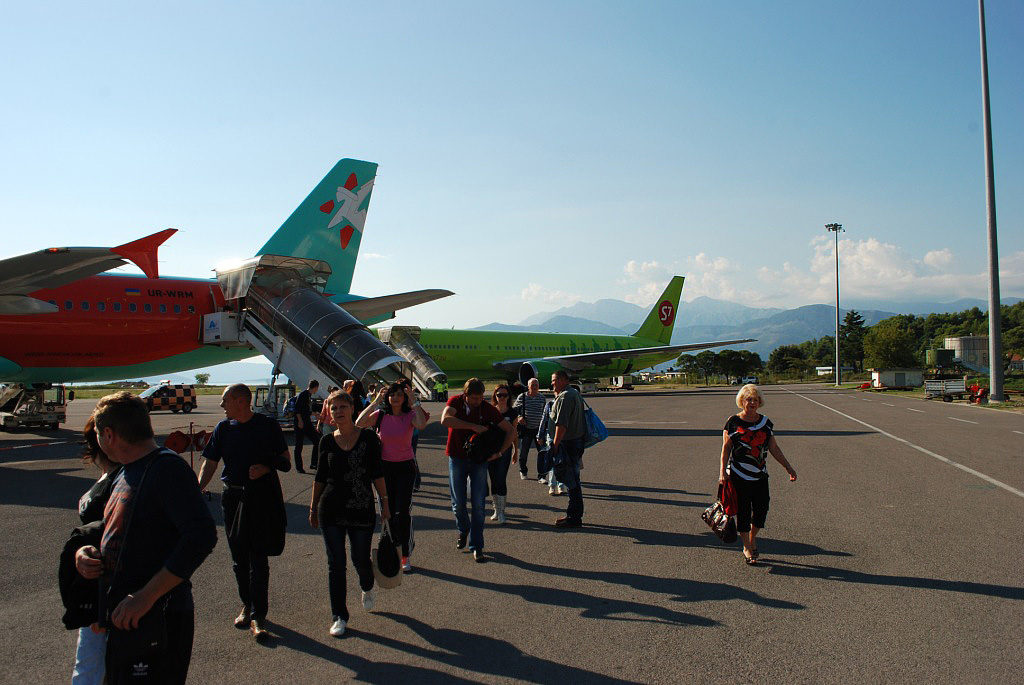 Planes at Tivat Airport