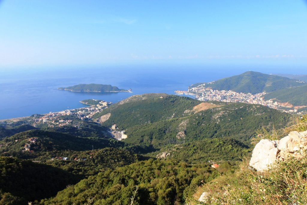 beutiful view of riviera of budva