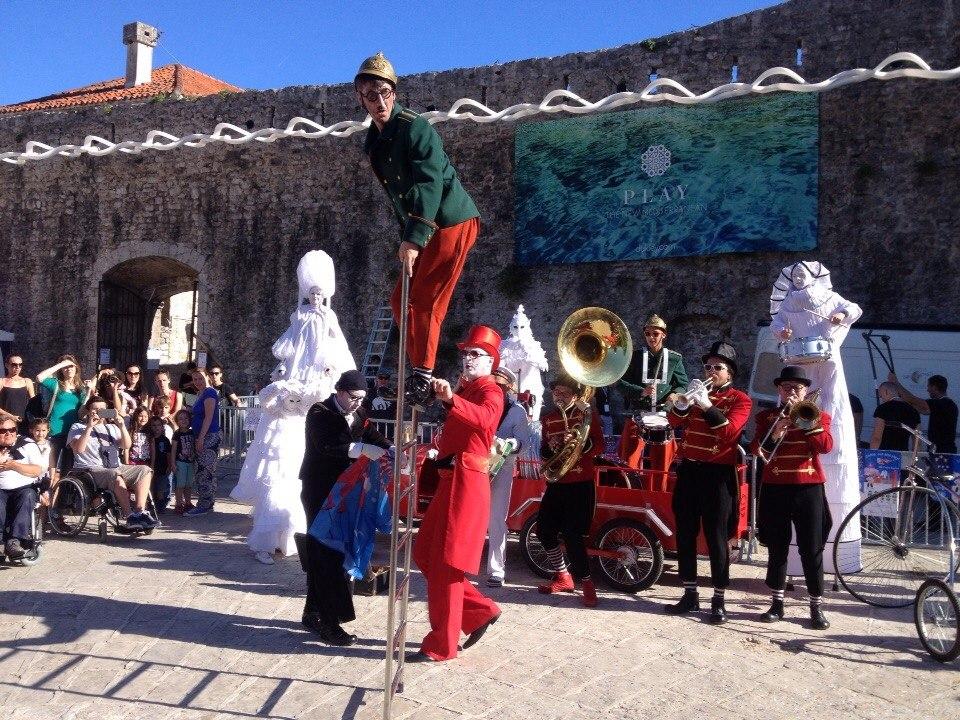 Street festival in Budva