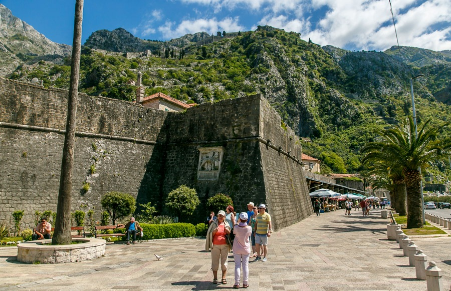 City walls in Kotor