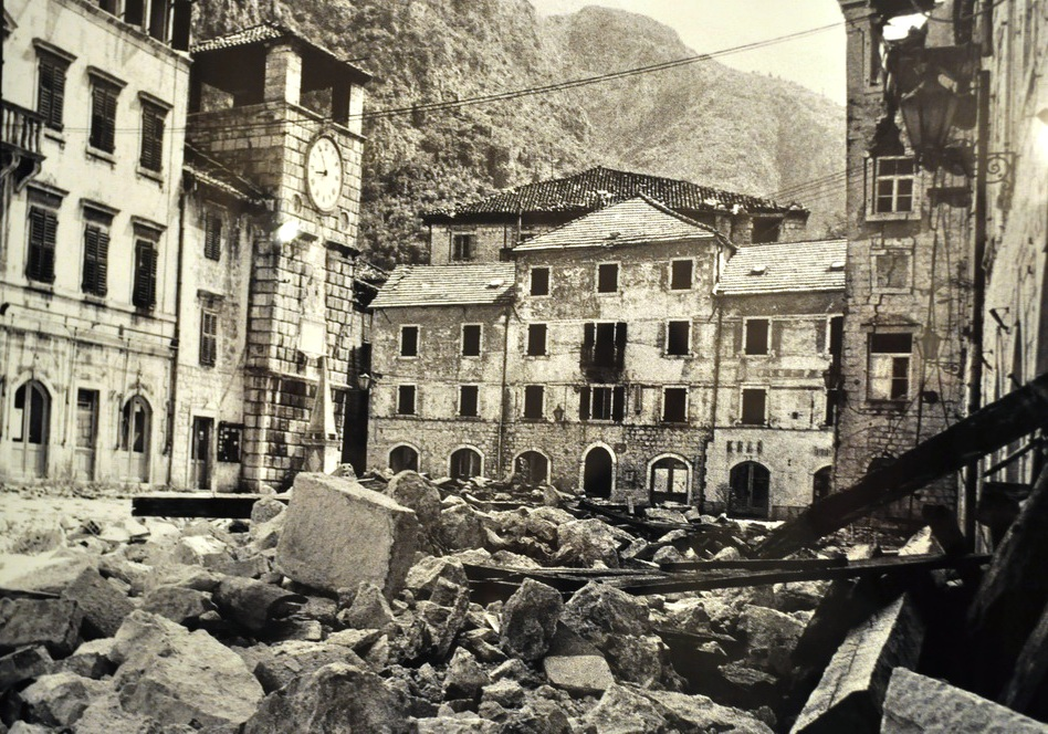 Kotor after earthquake april 1979