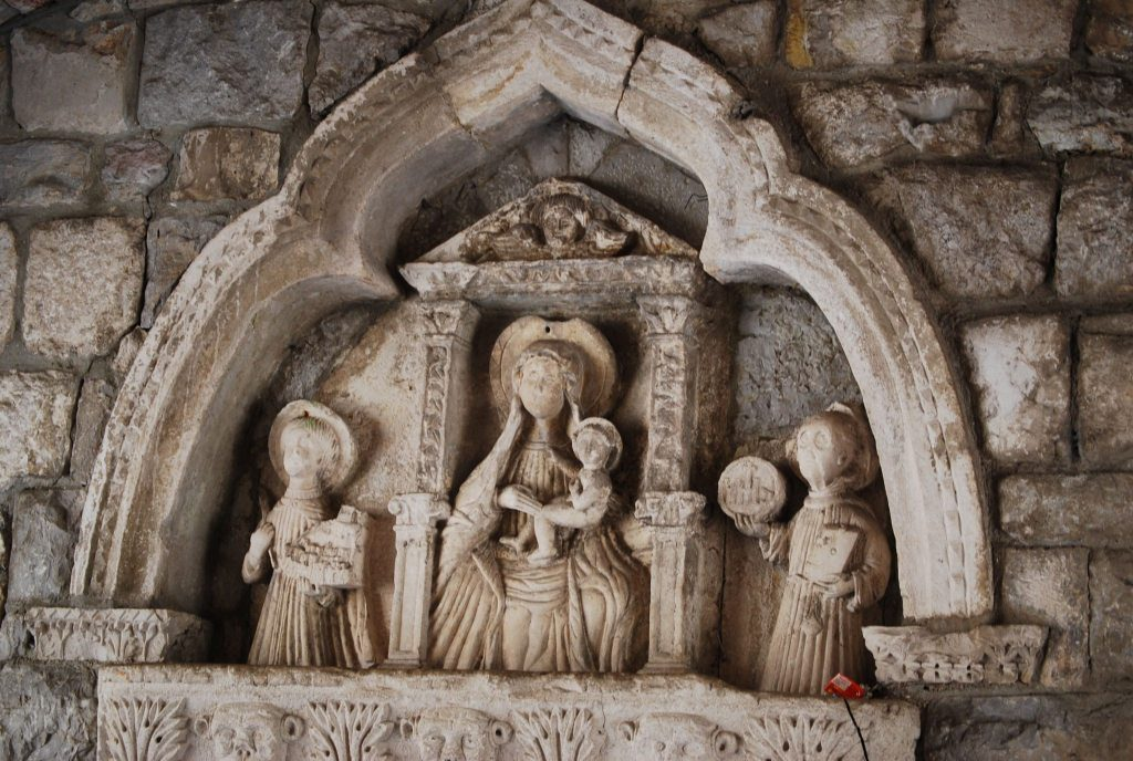 Madonna and child Sea Gate Relief Kotor
