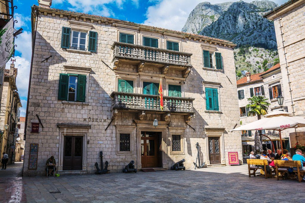 Museum Square and Maritime Museum in Kotor