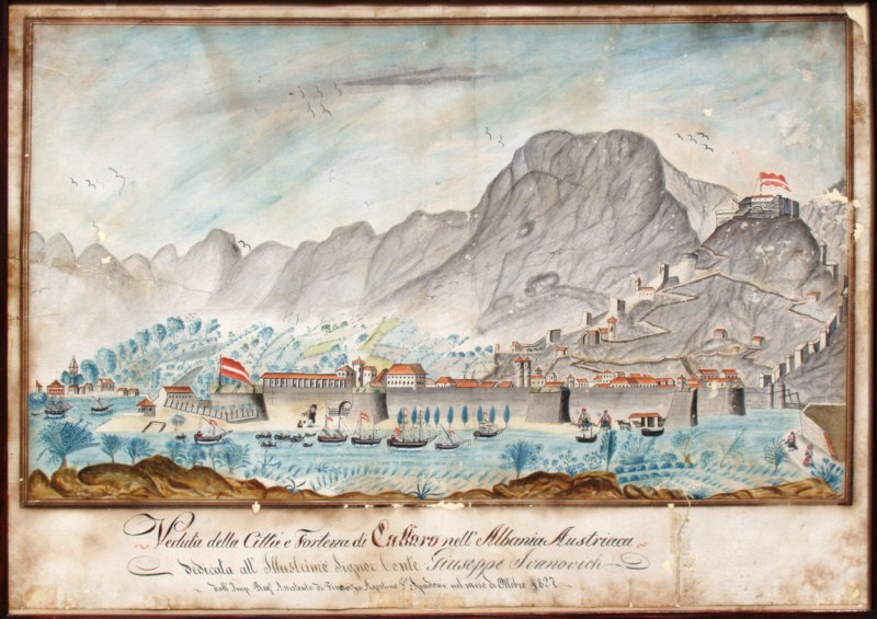 Old naval map of Kotor