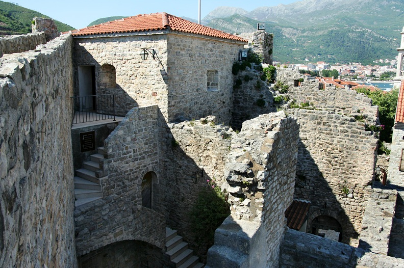 Parts of the citadel in budva
