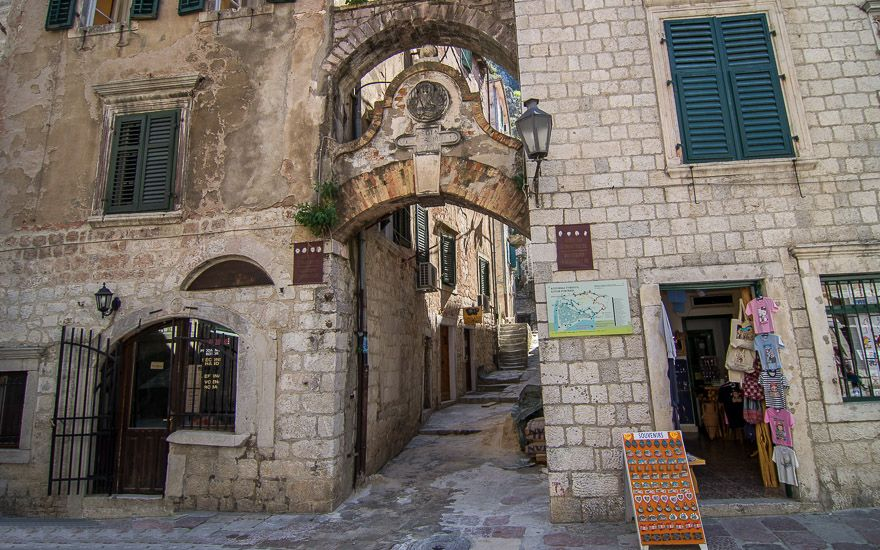 Main entrance to Kotor Fortress