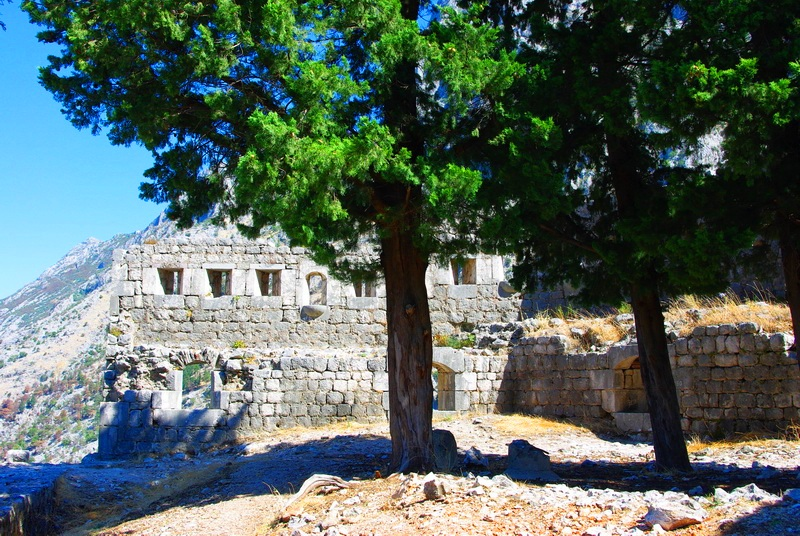 the remains of the old fortress near Kotor