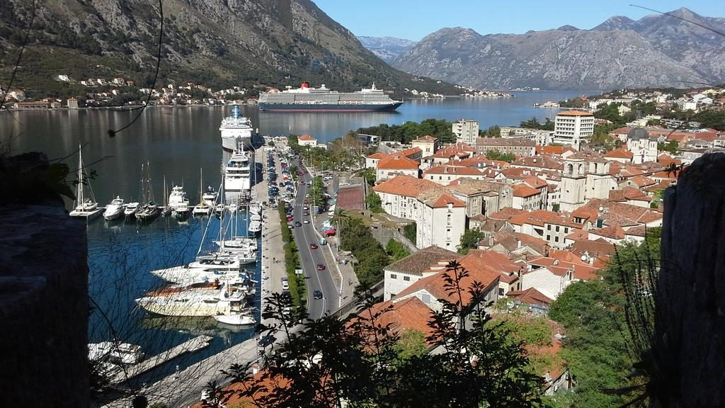 Kotor - Harbor View from ramparts
