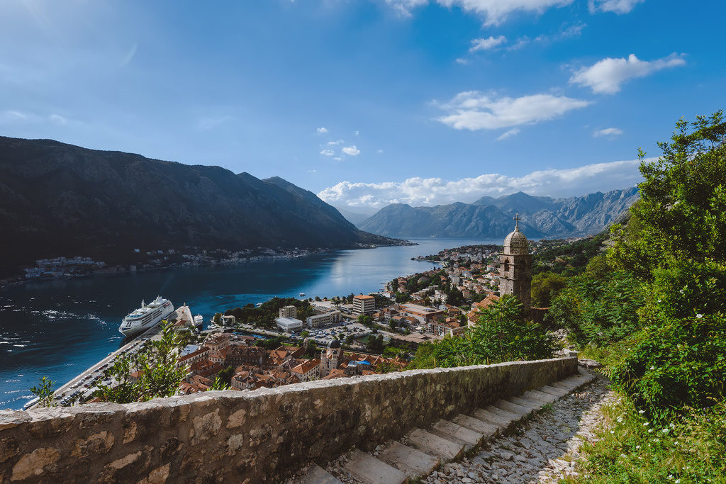 old town kotor view from fortress