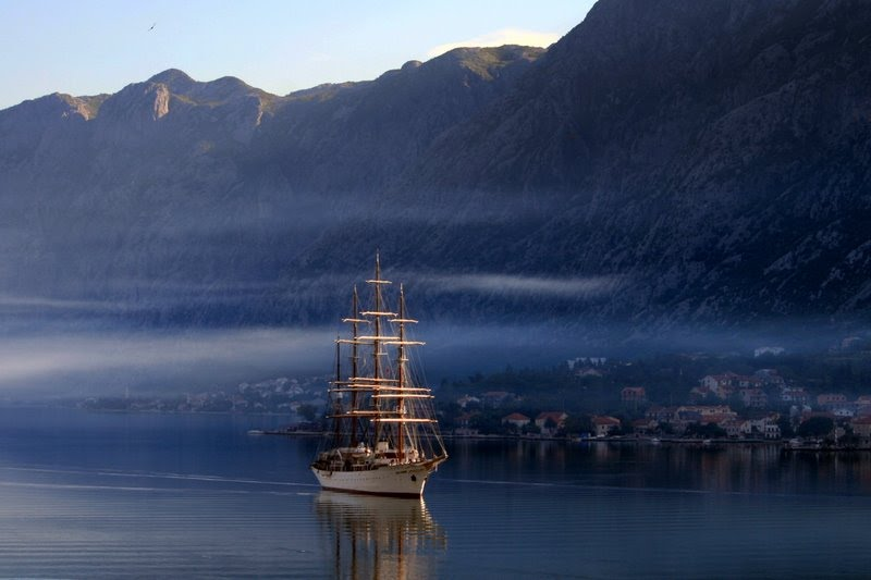 "Sailboat ""Sea Cloud"" in Kotor"