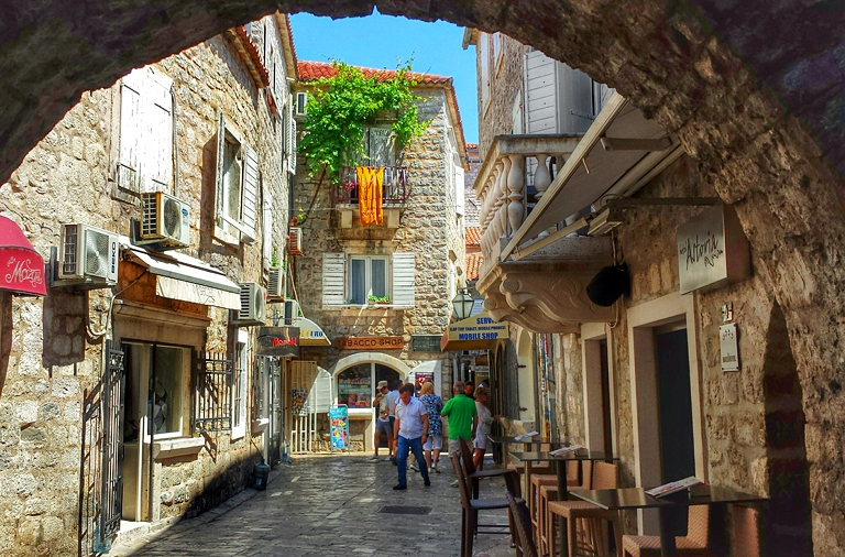 Shops in Old Town of Budva