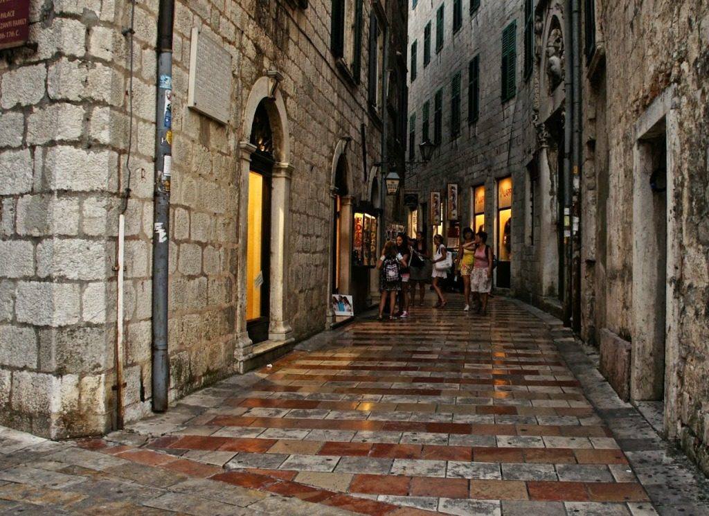 Street in the Old Town of Kotor