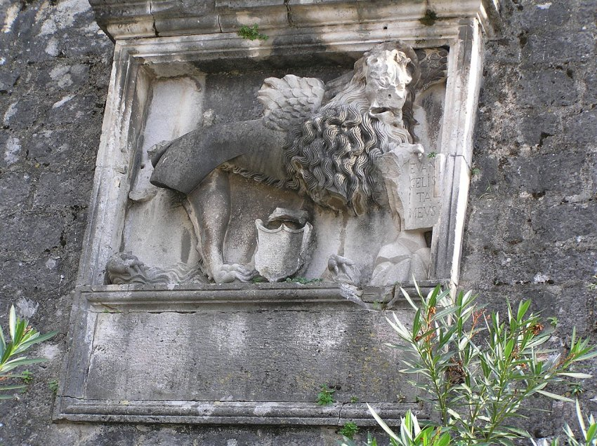 symbol of the Venetian Republic in Kotor - the lion of St. Mark